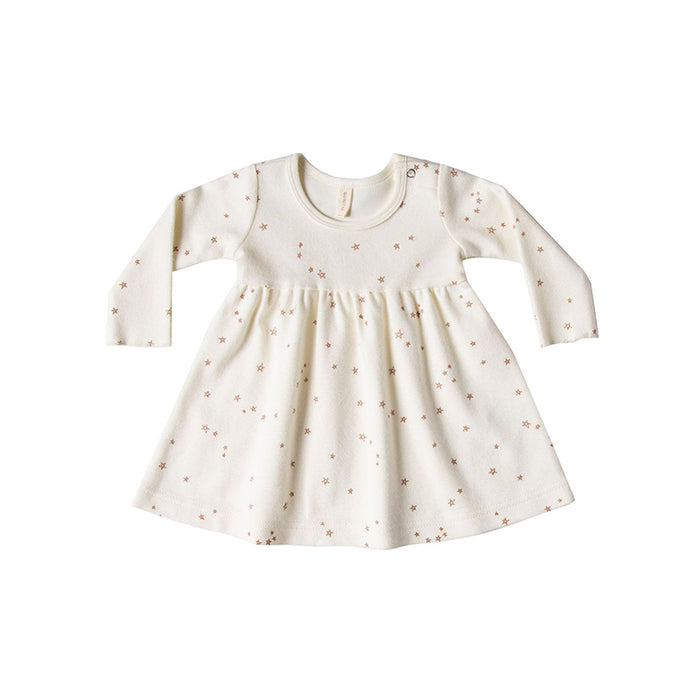 Quincy Mae Baby Doll Dress Ivory Stars