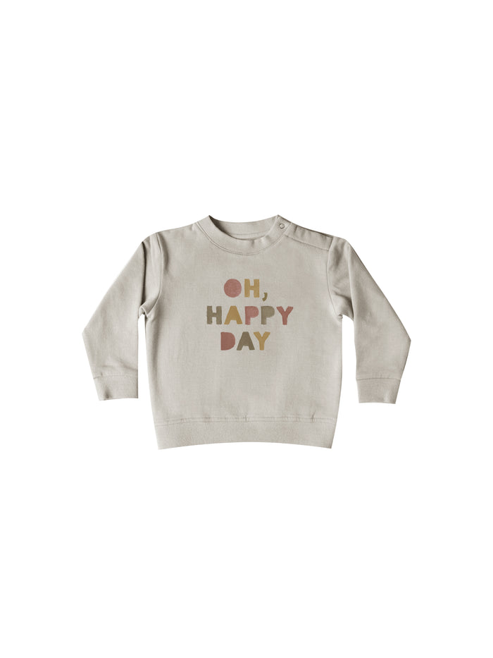 Quincy Mae Basic Sweatsuit Happy Day Fog