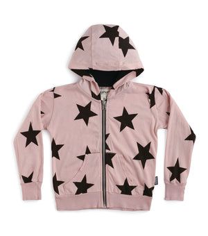 Nununu Light Star Zip Hoodie Powder Pink