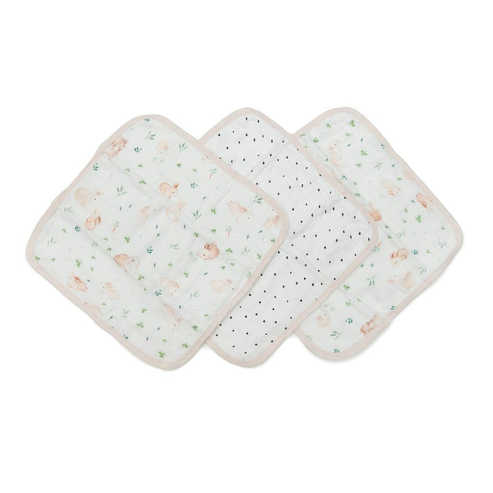 LouLou Lollipop Washcloth Set Bunny Meadow