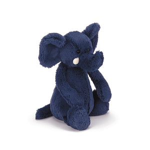 Jellycat Bashful Elephant Navy Medium
