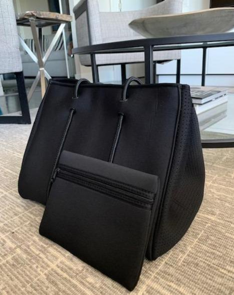 Bag and Bougie Black Zippered Tote