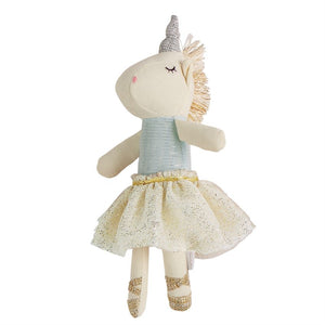 Mudpie Unicorn Rattle Blue