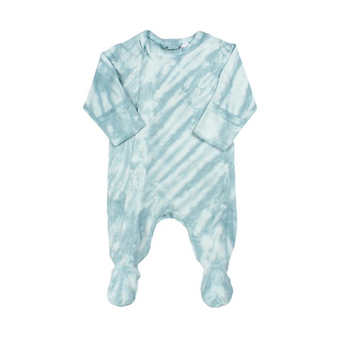 Coccoli Blue Tie-Dye Zip Footie