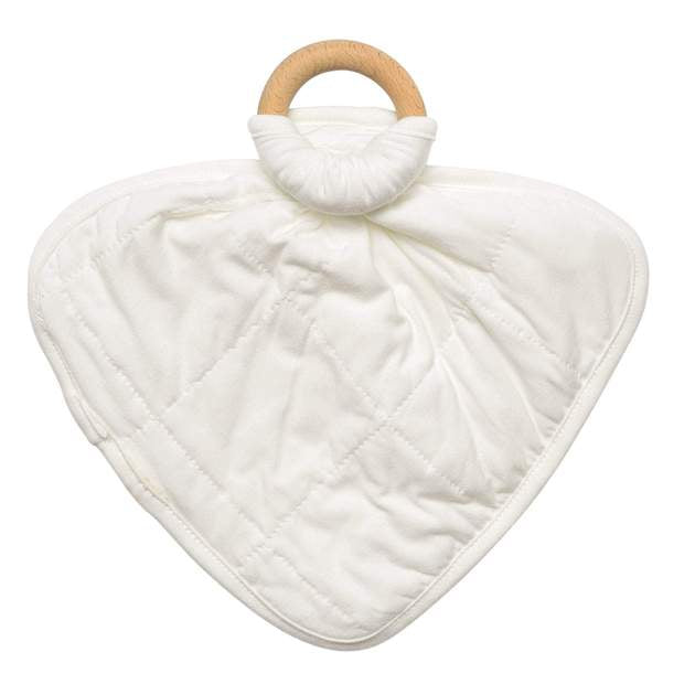 Kyte Baby Lovey with Removable Wooden Teething Ring Cloud