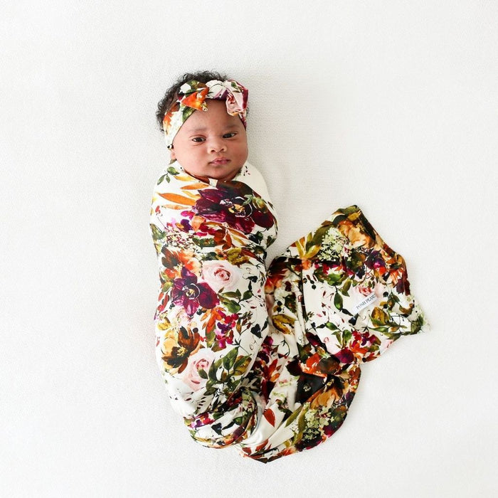 Posh Peanut Corrine Infant Swaddle and Headwrap