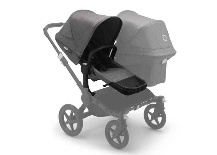 Bugaboo Donkey3 Duo Extension Set Black/Grey Melange