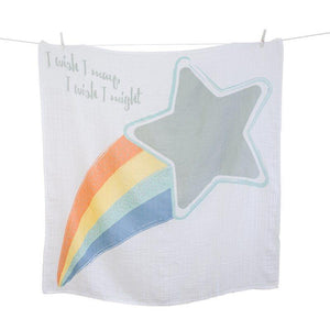 Lulujo Baby's First Year Swaddle Milestone Blanket I wish I may