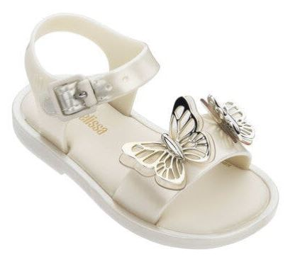 Mini Melissa Mar Sandals White/Silver