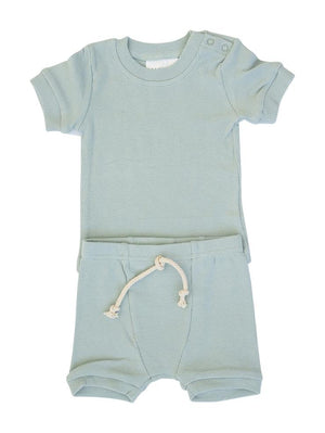 Mebie Baby Sea Ribbed Short Set