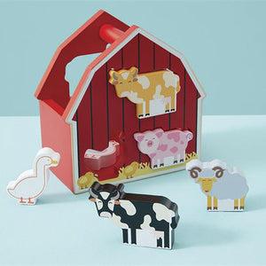 Mudpie Barnyard Wood Play Set