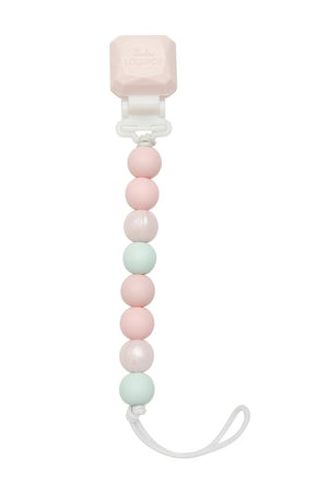 LouLou Lollipop Pacifier Clip Pink Mint