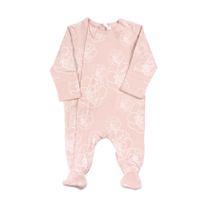Coccoli Pink Floral Zip Footie