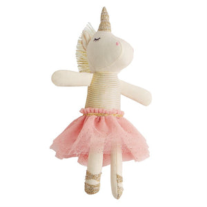 Mudpie Unicorn Rattle Pink