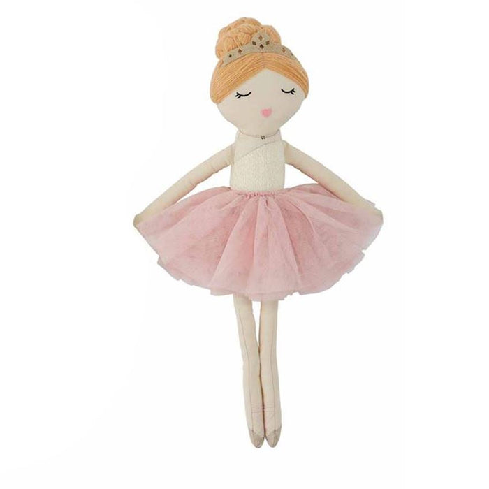 Mudpie Ballerina Doll Red Hair