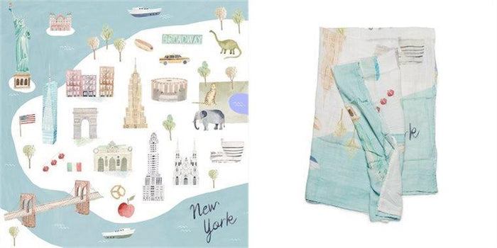 Loulou Lollipop Swaddle Blanket New York