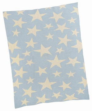 Merben Blanket Blue With Multi Star