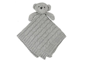 Baby Mode Cable Knit Lovey Bear Grey