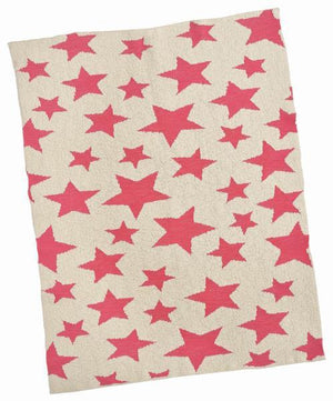 Merben Blanket Cream Pink Multi Star