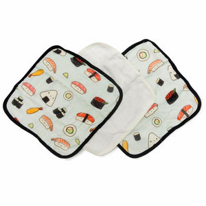 Loulou Lollipop Washcloth Set Sushi