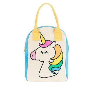 Fluf Zip Lunch Bag Unicorn