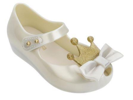 Mini Melissa Ultragirl Princess Maryjanes White Pearled