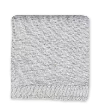 Tots Fifth Avenue Blanket With Border Grey
