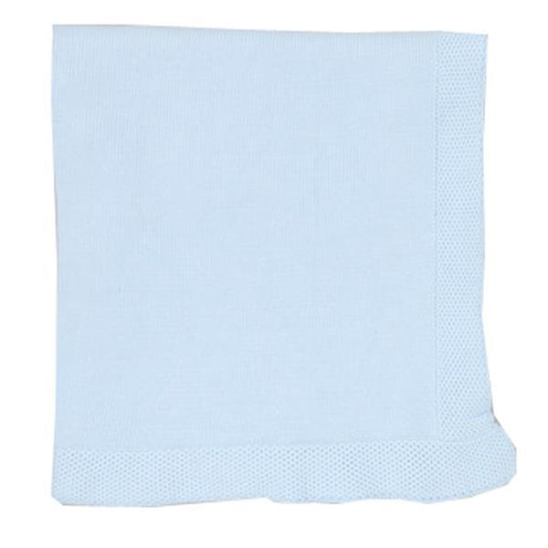 Tots Fifth Avenue Blanket With Border Light Blue
