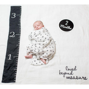 Lulujo Baby's First Year Swaddle Milestone Blanket Loved Beyond Measure