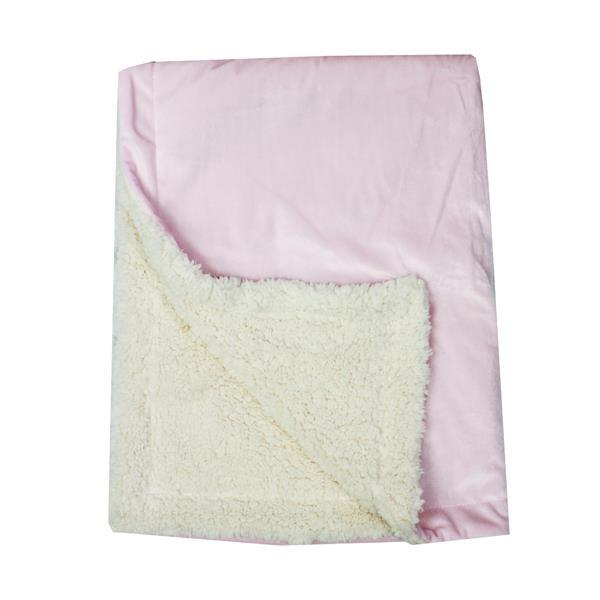 Tots Fifth Avenue Blanket Pink Sherpa