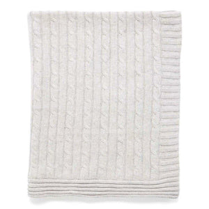 Tots Fifth Avenue Cable Knit Blanket Grey