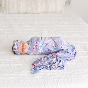 Posh Peanut Samantha Swaddle and Headband Set