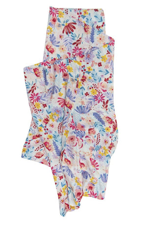 Loulou Lollipop Muslin Swaddle Light Field Flowers