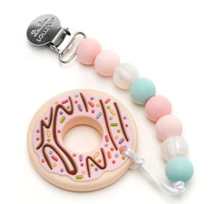 Loulou Lollipop Teether Pink Donut