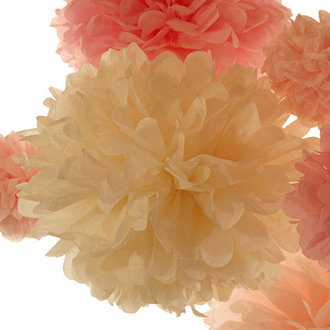 Easily match your party colors or home decor with tissue paper poms made just for you. Step by step instructions show you how to open them so they're pom perfect every time.