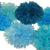 PomAdore combines six ocean shades in this beach party worthy tissue paper pom set.