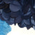 PomAdore's high quality tissue paper poms and petal perfect tips in navy and blue.