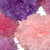 Only the prettiest shades of pink and purple tissue paper is used in this pom set.