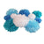 Ten piece Frozen birthday party tissue paper pom set with an icy twist by PomAdore