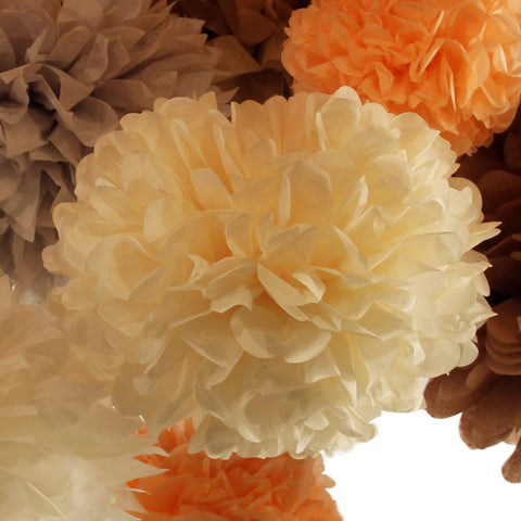PomAdore's custom tissue paper poms are available in four sizes, like this large cream pom.
