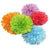 PomAdore's Spring Fling is a five piece birthday party tissue paper pom pom set.