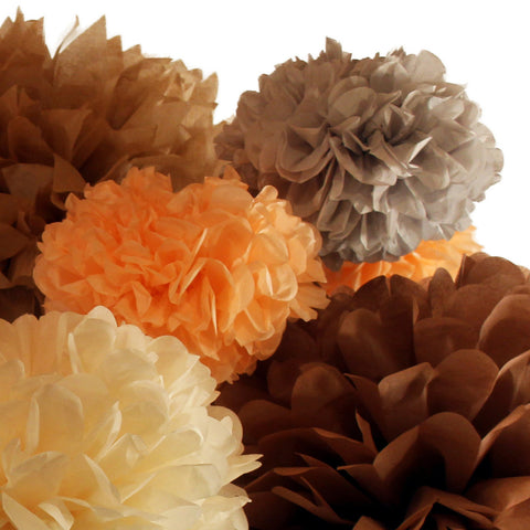 Choose from over 70 colors to easily match your party decor with PomAdore's custom tissue paper poms.