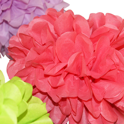 Bright fruity shades come together in PomAdore's exclusive tissue paper pom pom set Spring Fling.