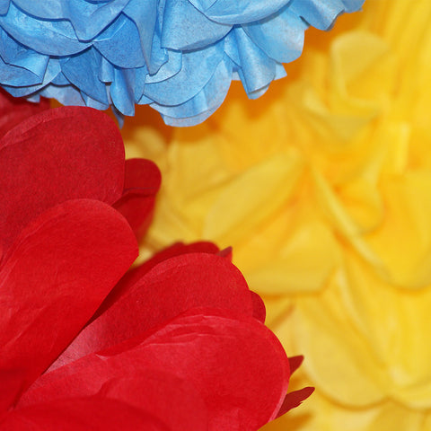 Put the POW! in your Superhero birthday party with PomAdore's tissue paper poms.