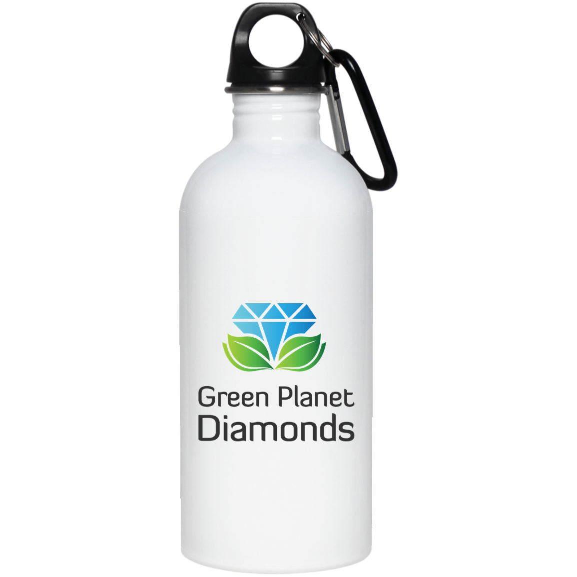 Green Planet Diamonds 20 oz. Stainless Steel Logo Water Bottle - Green Planet Diamonds