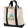 Green Planet Diamonds Canvas Logo Tote - Green Planet Diamonds