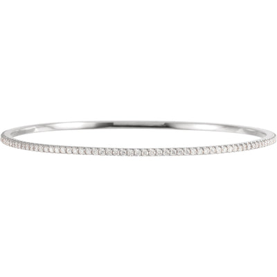 14kt gold 2 carat total weight stackable Lab Grown Diamond Bangle Bracelet - Green Planet Diamonds