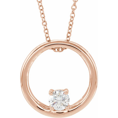 Lab Grown Diamond Circle Necklace