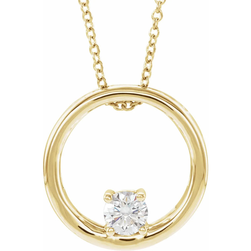 Lab Grown Diamond Circle Pendant