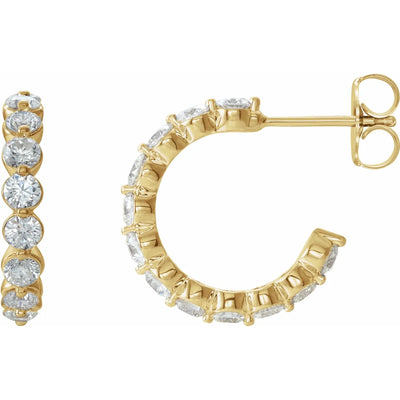 Lab Grown Diamond J Hoop Earrings